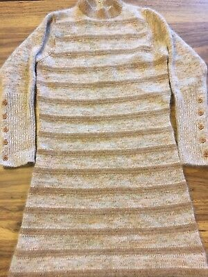"Vtg 60's Mod Dress Full Fashioned ""Knits With An Elegant Air"" Sz 7 Wool & Angora"