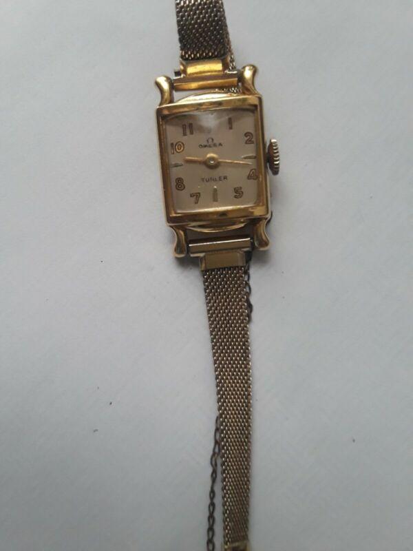 Vintage Omga Turler Womens 18KT Manual Watch