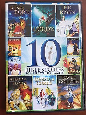 10 Animated Kids Bible Stories 265 Minutes New Dvd Moses Jesus Free Ship