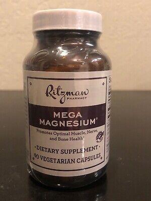 Ritzman Pharmacy Mega Magnesium, 90 Vegetarian Capsules EXP 1/21+
