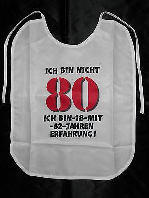 80.Geburtstag Lätzchen für Erwachsene witzige Geschenke Geburtstag