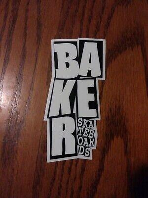 BAKER SKATEBOARDS SOCK PUPPETS THE ANDREW REYNOLDS GUY SQUARE SKATEBOARD STICKER