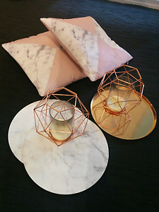 Pillows, tray, candle holders and placemats. Homebush Strathfield Area Preview