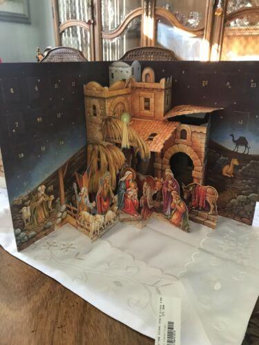 Caspari: Pop-Up 3 Dimensional Nativity Advent Calendar : Beautiful