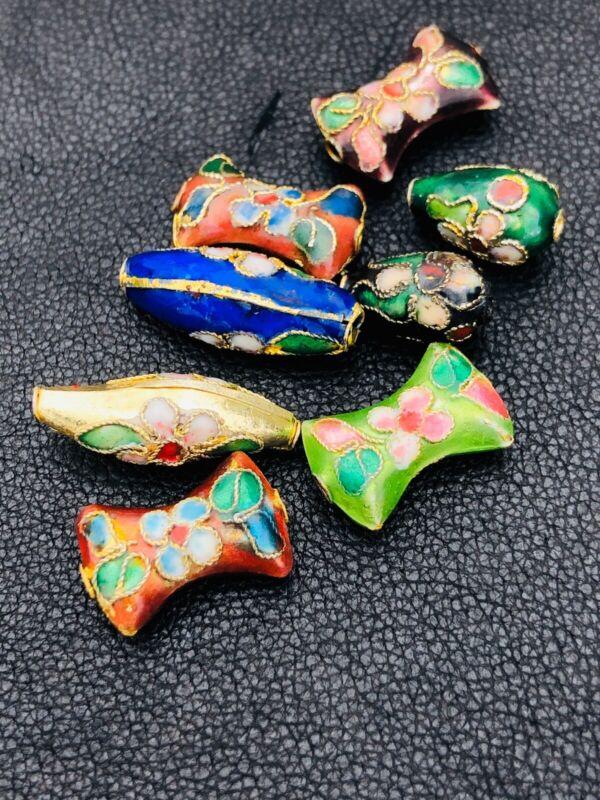 Cloisonné Beads  Lot Vintage Multi Color Set
