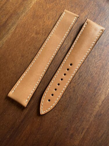 OMEGA Original Kalbsleder Armband Braun für Faltschliesse 20 auf 16 mm