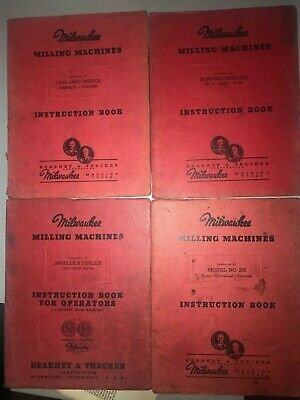 Milwaukee Milling Machine Instruction Manuals 1200-1800 M Series Model 2h
