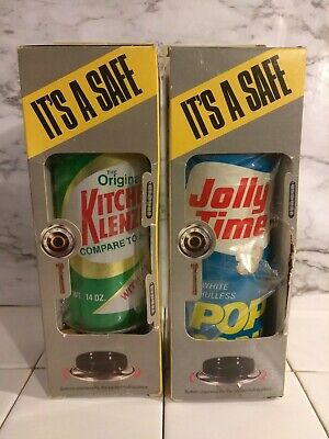 VTG NOS 1988 JOLLY TIME POPCORN KITCHEN KLENZER TIN CAN LOT STASH Advertising