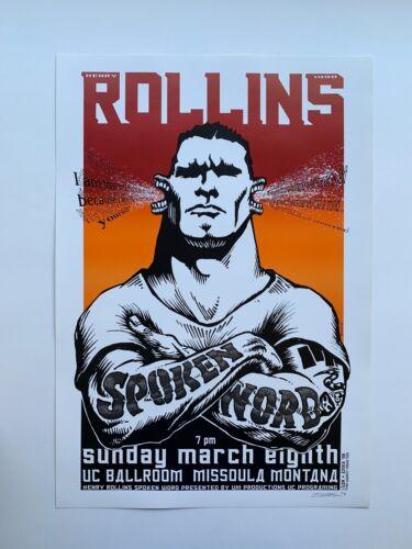 Signed Emek 1998 Henry Rollins Spoken Word Original Rock Concert Poster