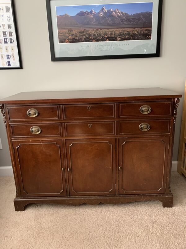Vintage Mahogany Buffet Sideboard Server Cabinet