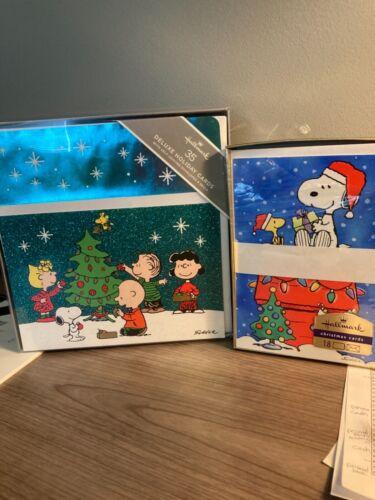Hallmark Boxed Snoopy Peanuts Christmas Cards (2 sets)