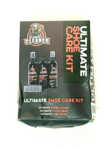Combat Cleaner Ultimate Shoe Care Kit 4 Piece Set Cleaner Shield Freshen Brush