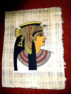 Ägypten Papyrus-Bild 33x42cm - Kleopatra, die schöne Herrscherin am Nil