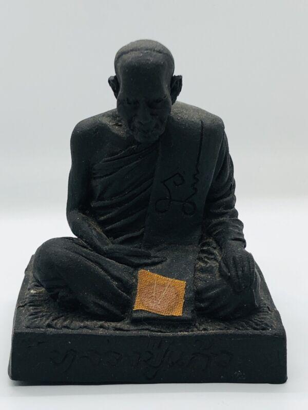 Small Herb Thai Buddhist Monk Statue LP Kaew