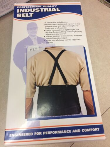 Brand New Industrial Back Belt Brace Black Color Size Extra