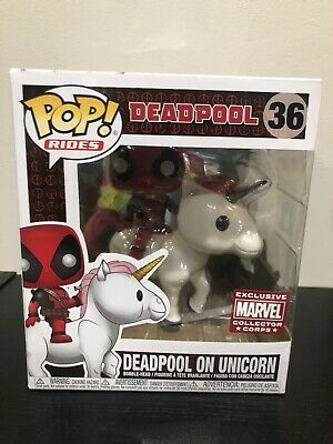Funko Pop! Marvel Deadpool On Unicorn Collector Corps Exclusive MCC #36