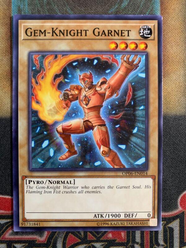 Unlimited YuGiOh - Gem-Knight Garnet 1x M//NM Common OP06-EN014