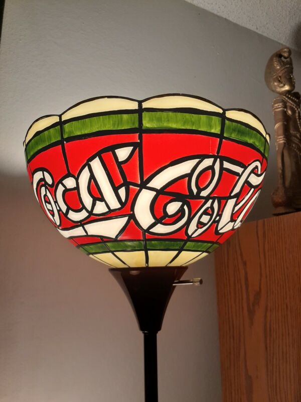 Coca-Cola Vintage Lamp Shade Plastic Tiffany-Style Upright Lampshade