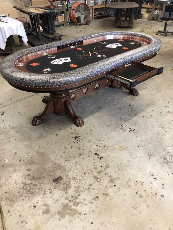 Deluxe 4 x 8 custom poker tables by kandjpokertables.com
