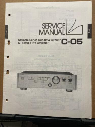 Original Service Manual for the Luxman C-05 Pre-Amplfier Amp