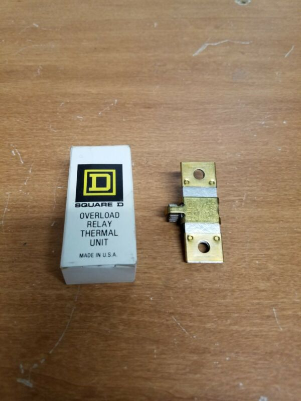 New Square D B 6.25 Overload Relay Thermal Unit. Free shipping!