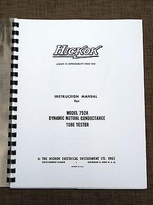 Hickok 752a Tube Tester Instruction Manual