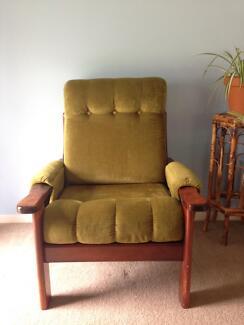 Aristoc Fler velvet armchair chair