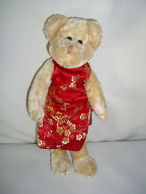 TY Attic Treasures Collection. Geisha Bear in a Red Dress. Cute Little Lady!
