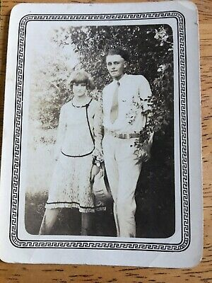 Anime Couples Black And White (Vintage 1920's Snapshot Photos Photograph Couple Flapper)