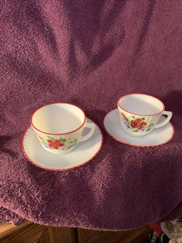 MacBeth Evans Petalware Mountain Flowers Coffee Cup And Saucer