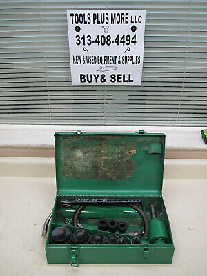 Greenlee 7306 12 - 2 Hydraulic Knockout Punch Driver Set Used Ships Free 1