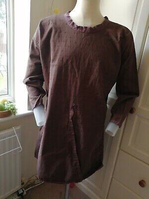 Late Saxon/Norman Medieval front split patterned linen tunic LARP Renactment SCA
