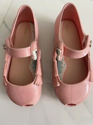 Mini Melissa Pink Flamingo Shoes, Size 9