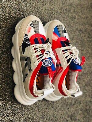 SALE! Versace Colorblock Chain Reaction Sneakers Size 45 U.S. size 12 Men's