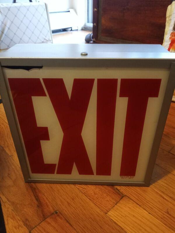 Vintage exit sign