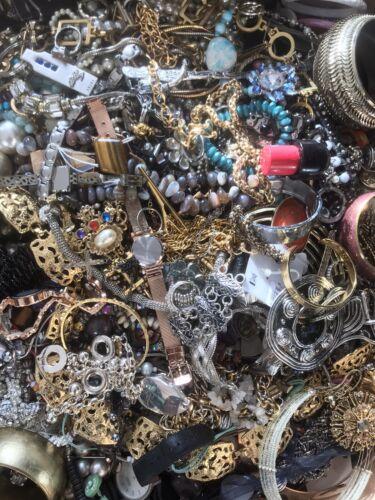 Jewellery - Joblot Mixed Costume Jewellery 2kg Kilo Bundle Everyone Different Craft Beading
