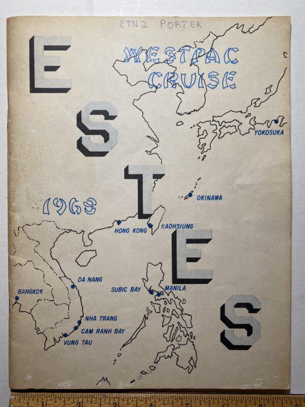 1968 Westpac Cruise Book, USS Estes AGC-12, Vietnam War