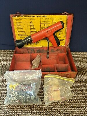 Hilti Fastening System Dx350 Actuated Nail Gun Kit Tool Metal Case Piston Drive