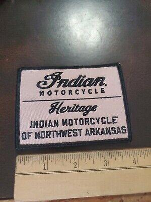 VINTAGE HERITAGE INDIAN MOTORCYCLE OF NORTHWEST ARKANSAS VEST PATCH