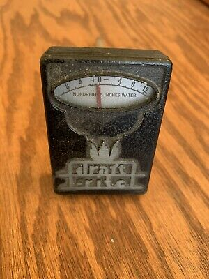 Bacharach Draft-rite Pocket Guage Manometer Chimmney Pipe Flues Fire Box