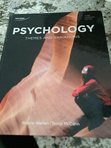 Psychology: Themes and Variations (3rd Ed) by Weiten & McCann Peterborough Peterborough Area image 1