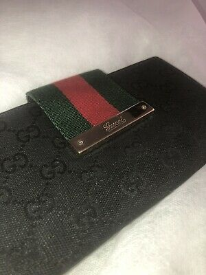 Gucci Long Wallet Vintage Monogram Leather Purse