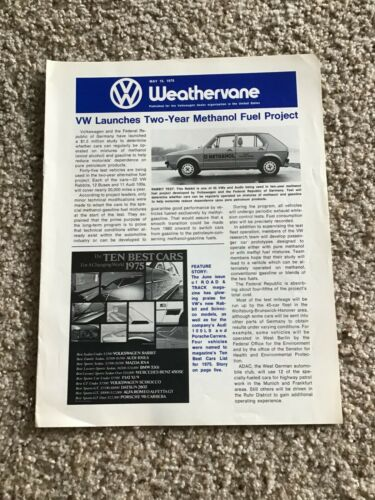 1975  VW magazine Weathervane,  original dealers magazine.