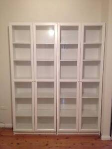 Ikea white billy bookcase with glassdoors Tempe Marrickville Area Preview