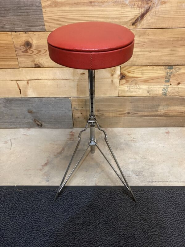 Vintage Ludwig Red Throne Stool Seat 60