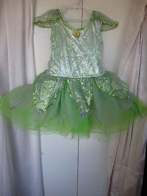 Halloween Disney Store Exclusive Tinkerbell Girls Dress Sz L 10-12 (WB-28)