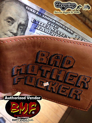 Original BMF® BROWN BAD MOTHER F*CKER WALLET LEATHER Pulp Fiction **NO RESERVE**
