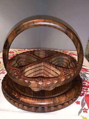 Collapsable Rosewood Snack Tray, Medium
