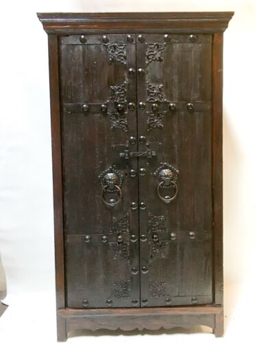 Antique oriental cabinet with wine rack