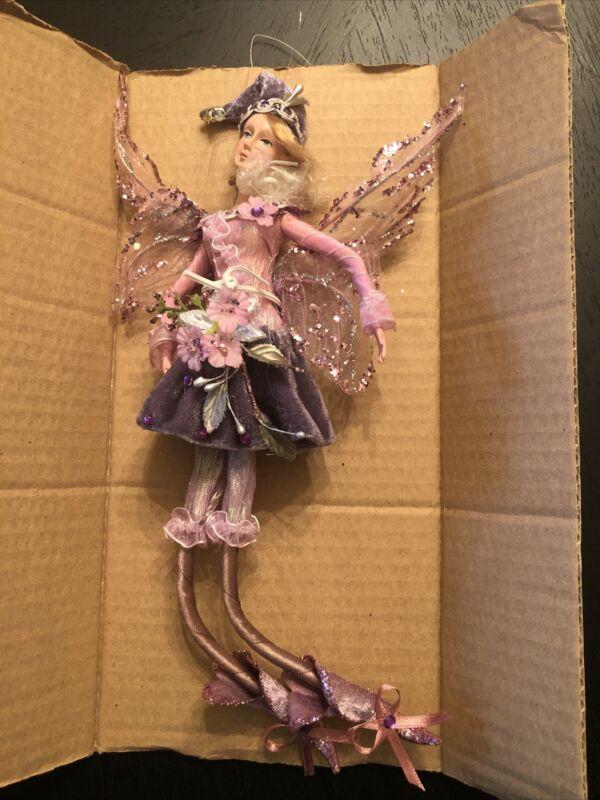 "12"" Hanging Fairy, Purple, KF0494"